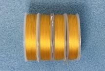 Нить для бисера Spark Beads, диаметр 0,1 мм, золотисто-жёлтая