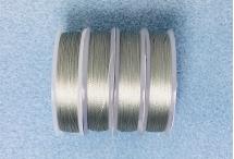 Нить для бисера Spark Beads, диаметр 0,1 мм, серебристая