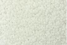 Японский круглый бисер TOHO №11, Opaque-Frosted White