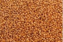 Японский круглый бисер TOHO №15, Permanent Finish - Galvanized Rose Gold