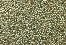 Японский круглый бисер TOHO №15, Permanent Finish - Galvanized Aluminum