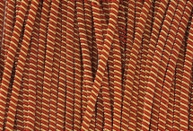 Канитель, трунцал, витая 4 мм, красно-золотая