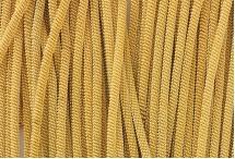 Канитель, трунцал, витая 4 мм, золотая
