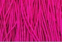 Канитель, трунцал, бамбук, 1,5 мм, ярко-розовая