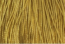 Канитель, трунцал, бамбук, 1,5 мм, жёлтое золото