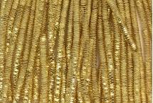 Канитель, трунцал, 4-х граненая, 3 мм, тёмное золото