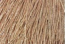 Канитель, трунцал, 4-х граненая, 1,5 мм, розовое золото