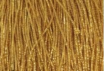 Канитель, трунцал, 4-х граненая, 2 мм, тёмное золото