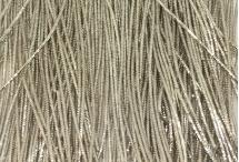 Канитель, трунцал, 4-х граненая, 1 мм, серебро