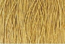 Канитель, трунцал, 4-х граненая, 1 мм, бледное золото