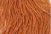 Канитель, трунцал, 4-х граненая, 1,5 мм, оранжевая