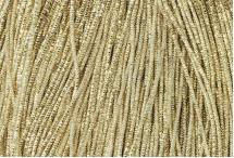 Канитель, трунцал, 4-х граненая, 2 мм, бледное золото
