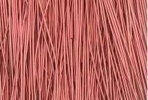 Канитель, гладкая, 1 мм, нежно-розовая