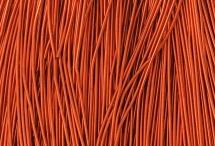 Канитель, гладкая, 1 мм, тёмно-оранжевая