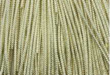 Канитель, трунцал, зиг-заг, 2,2 мм, светлое золото