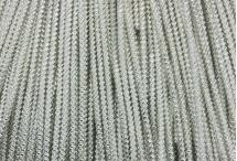 Канитель, трунцал, зиг-заг, 2,2 мм, серебро