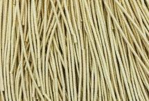 Канитель, трунцал, зиг-заг, 1,5 мм, светлое золото