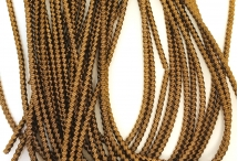 Канитель, трунцал, зиг-заг, 2,2 мм, коричнево-золотая