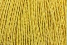 Канитель, трунцал, зиг-заг, 2,2 мм, жёлтое золото